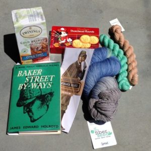 Goodies from Florida: Yarn, Tea, and Sherlock Holmes (and also biscuits)