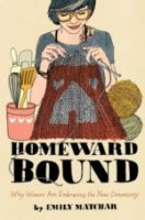 Book cover showing woman knitting