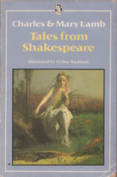 Book cover for Tales from Shakespeare by Charles & Mary Lamb, illustrated by Arthur Rackham